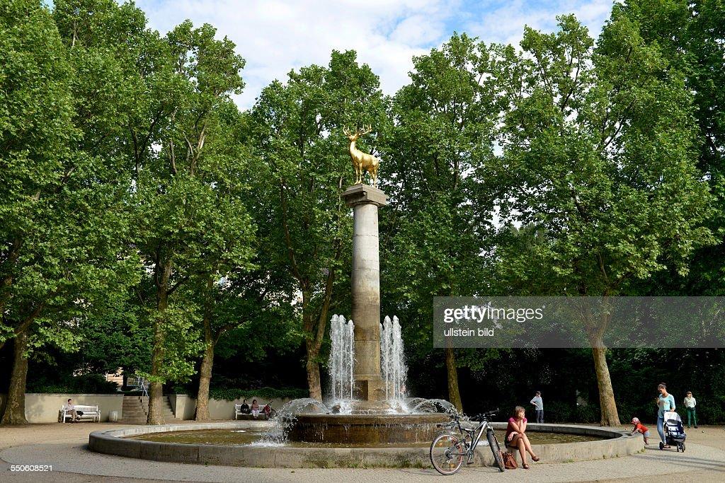Brunnen Zum Goldenen Hirschen, Rudolph Wilde Park, Schoeneberg, Berlin,  Deutschland