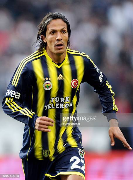 Bruno Alves of Fenerbahce SK in action during the Turkish Super League match between Besiktas and Fenerbahce at the Ataturk Olympic Stadium on April...