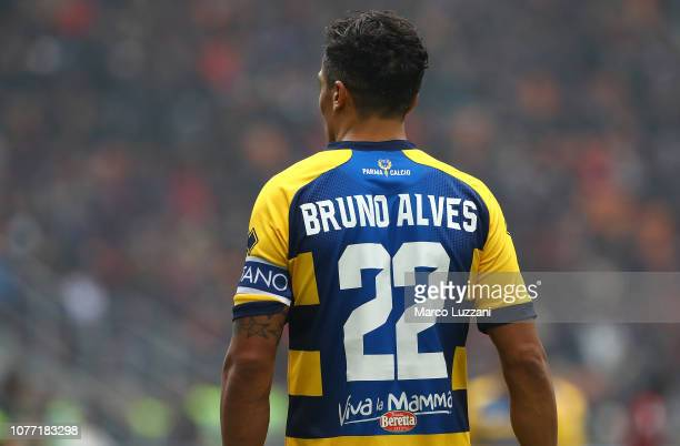 Bruno Alves of Parma Calcio during the Serie A match between AC Milan and Parma Calcio at Stadio Giuseppe Meazza on December 2 2018 in Milan Italy