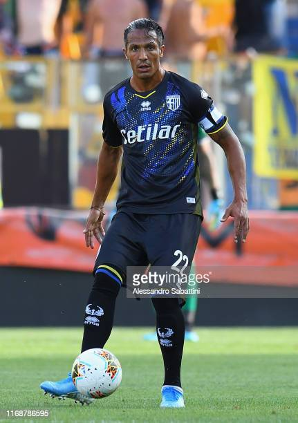 Bruno Alves of Parma Calcio in action during the Coppa Italia match between Parma Calcio and Venezia FC at Ennio Tardini on August 17 2019 in Parma...