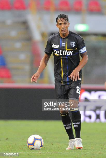 Bruno Alves of Parma Calcio in action during the serie A match between SPAL and Parma Calcio at Stadio Renato Dall'Ara on August 26 2018 in Bologna...
