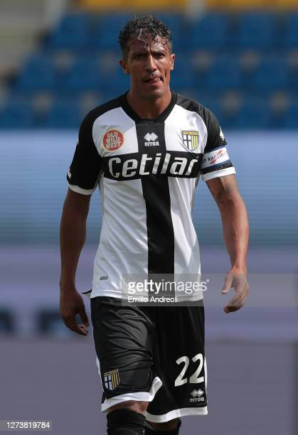 Bruno Alves of Parma Calcio looks on during the Serie A match between Parma Calcio and SSC Napoli at Stadio Ennio Tardini on September 20, 2020 in...