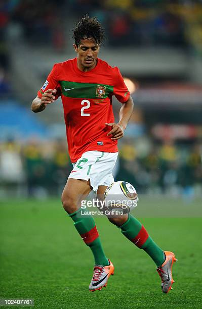 Bruno Alves of Portugal in action during the 2010 FIFA World Cup South Africa Group G match between Portugal and Brazil at Durban Stadium on June 25...