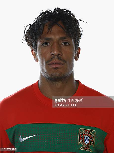 Bruno Alves of Portugal poses during the official Fifa World Cup 2010 portrait session at the Valley Lodge on June 7 2010 in Rustenburg South Africa