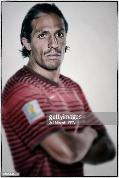 Bruno Alves of Portugal poses during the official Fifa World Cup 2014 portrait session on June 12 2014 in Sao Paulo Brazil