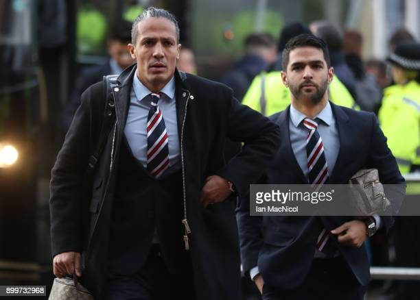 Bruno Alves of Rangers arrives at the stadium prior to the Scottish Premier League match between Celtic and Ranger at Celtic Park on December 30 2017...