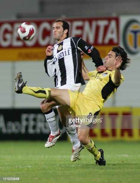 Bruno Amaro and Livramento during the Portuguese League match between Nacional da Madeira and Boavista in Funchal Portugal on March 16 2007