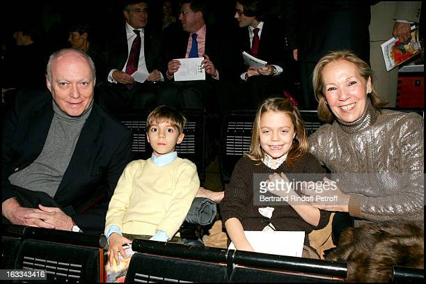 Bruno and Francoise Favier and grandchildren Heloise and Carlo Agostinelli at The 20th Anniversary Of Reve D 'Enfants Organised By L'Arop At Opera...