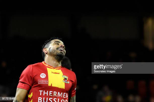 Bruno Andrade of Go Ahead Eagles during the Dutch Jupiler League match between Go Ahead Eagles v FC Emmen at the De Adelaarshorst on February 12 2018...