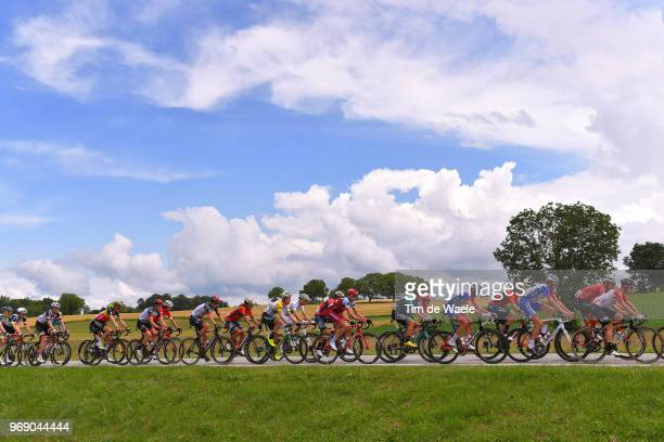 Bruno Armirail of France and Team Groupama FDJ / Jens Keukeleire of Belgium and Team Lotto Soudal / Jonathan Castroviejo of Spain and Team Sky /...
