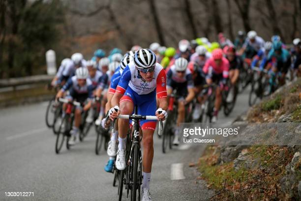 Bruno Armirail of France and Team Groupama - FDJ& the peloton during the 53rd Tour Des Alpes Maritimes Et Du Var, Stage 1 a 186,8km stage from Biot...