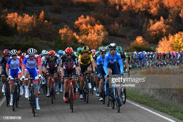 Bruno Armirail of France and Team Groupama - FDJ / Tomasz Marczynski of Poland and Team Lotto Soudal / Robert Gesink of The Netherlands and Team...