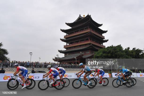 Bruno Armirail of France and Team Groupama-FDJ / Stijn Vandenbergh of Belgium and Team Ag2R La Mondiale / Olivier Le Gac of France and Team...