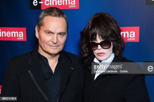 Bruno Barde and actress Isabelle Adjani attend 'ecinemacom' Launch Party at Restaurant L'Ile on November 30 2017 in IssylesMoulineaux France