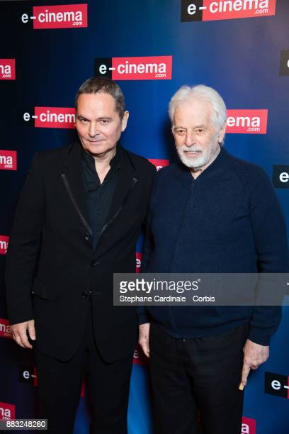 Bruno Barde and Alejandro Jodorowsky attend 'ecinemacom' Launch Party at Restaurant L'Ile on November 30 2017 in IssylesMoulineaux France