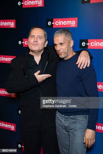 Bruno Barde and Sami Bouajila attend 'ecinemacom' Launch Party at Restaurant L'Ile on November 30 2017 in IssylesMoulineaux France