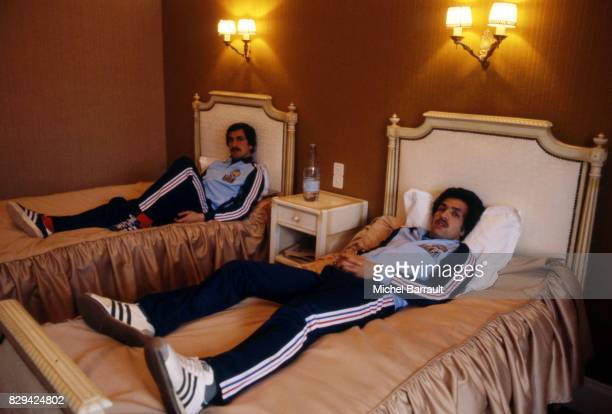 Bruno Baronchelli and Omar Sahnoun of France during the stage of Team France at Le Touquet before the World Cup 1978 on 30th April 1978