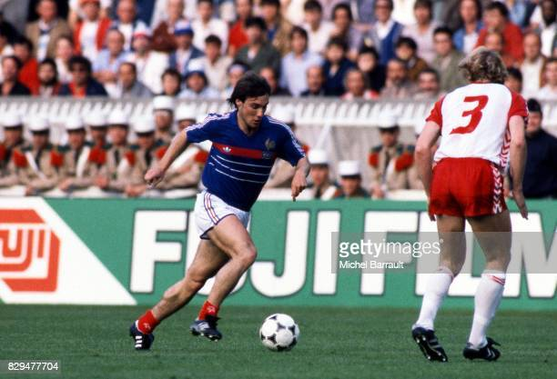 Bruno Bellone of France during the European Championship match between France and Denmark at Parc des Princes Paris France on 12th June 1984
