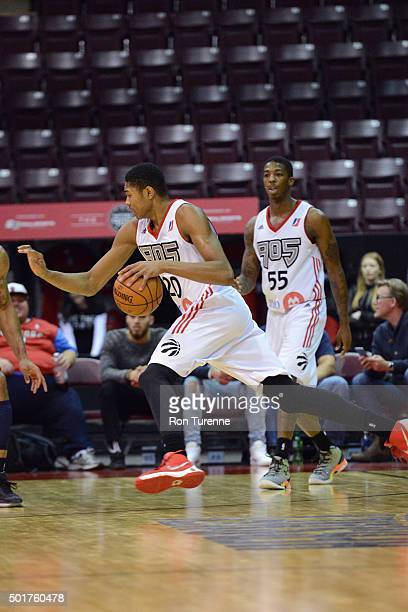 Bruno Caboclo of the Raptors 905 drives to the basket during a game against the Grand Rapids Drive at the Hershey Centre on December 16 2015 in...
