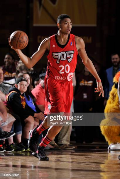 Bruno Caboclo of the Raptors 905 looks to pass against the Canton Charge at the Canton Memorial Civic Center on April 5 2017 in Canton Ohio NOTE TO...