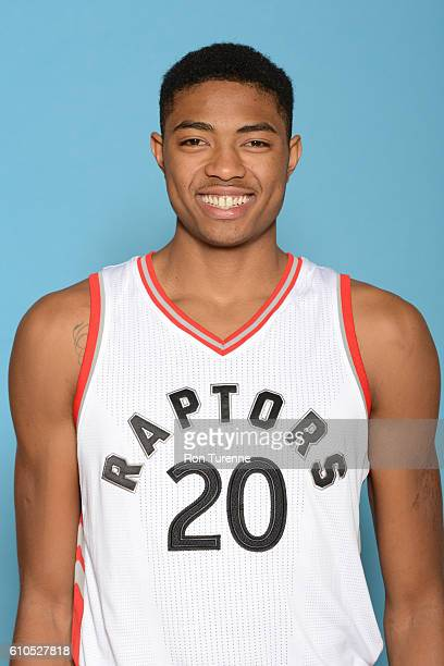 Bruno Caboclo of the Toronto Raptors poses for a head shot during the 20162017 Media Day on September 26 2016 at the BioSteel Centre in Toronto...