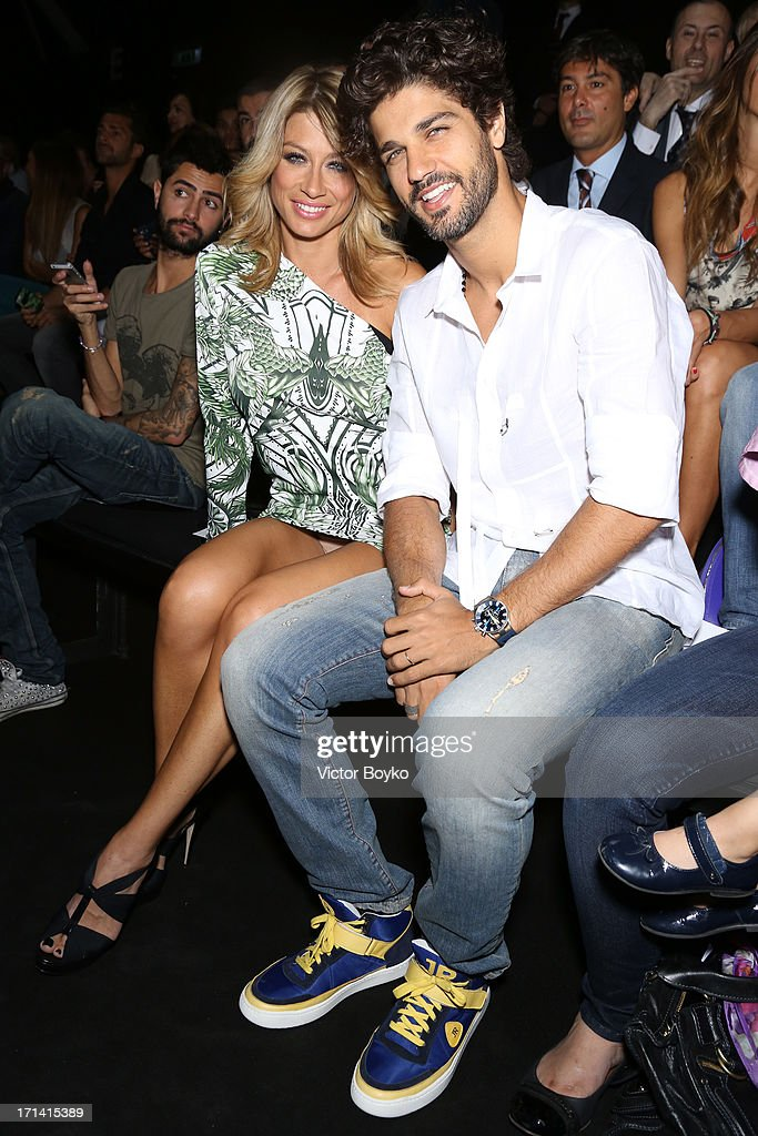 Bruno Cabrerizo and Maddalena Corvaglia attend the John Richmond show during Milan Menswear Fashion Week Spring Summer 2014 show on June 24, 2013 in Milan, Italy.