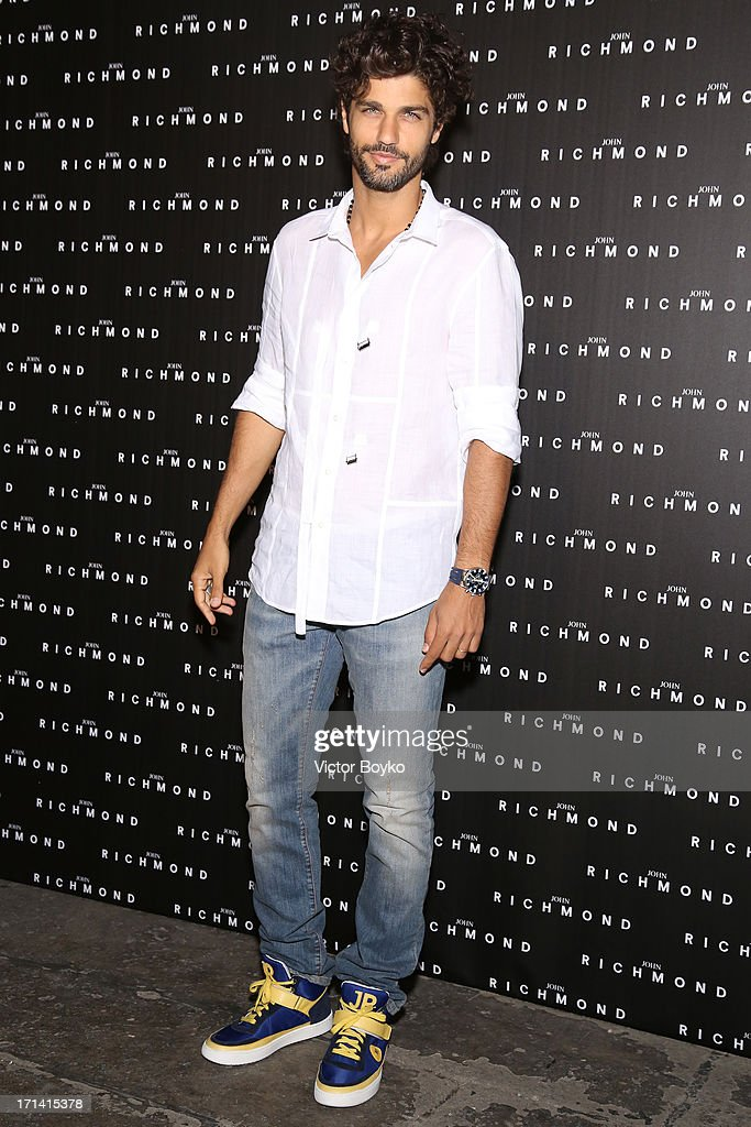 Bruno Cabrerizo attends the John Richmond show during Milan Menswear Fashion Week Spring Summer 2014 show on June 24, 2013 in Milan, Italy.