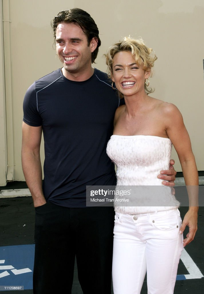 Bruno Campos and Kelly Carlson during FX's 'Over There' Los Angeles Premiere - Arrivals at Darryl F. Zanuck Theatre on the FOX Lot in Los Angeles, California, United States.