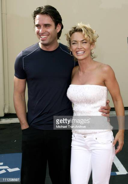 Bruno Campos and Kelly Carlson during FX's Over There Los Angeles Premiere Arrivals at Darryl F Zanuck Theatre on the FOX Lot in Los Angeles...