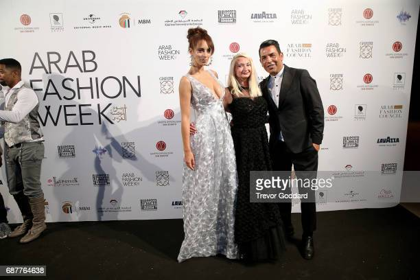 Bruno Caruso Privee and Guests attend the Arab Fashion Week Ready Couture Resort 2018 Gala Dinner on May 202017 at Armani Hotel in Dubai United Arab...