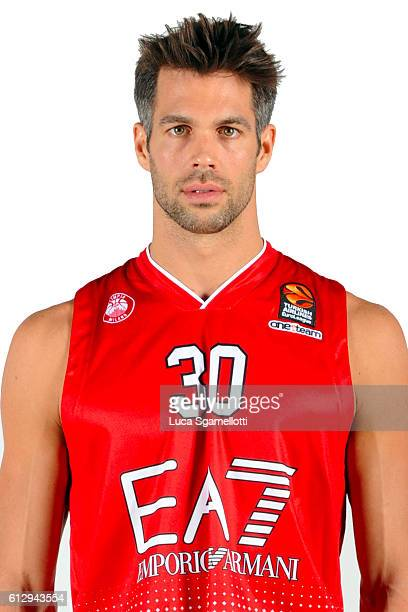 Bruno Cerella #30 of EA7 EMporio Armani Milan poses during the 2016/2017 Turkish Airlines EuroLeague Media Day at Kombank Arena on October 5 2016 in...