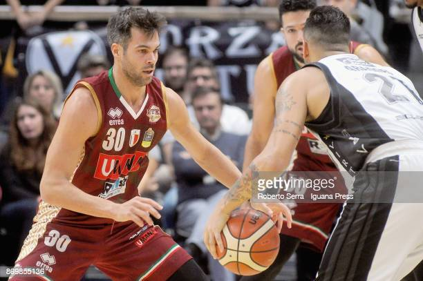 Bruno Cerella and Mitchell Watt of Umana competes with Pietro Aradori of Segafredo during the LBA LegaBasket of Serie A match between Virtus...