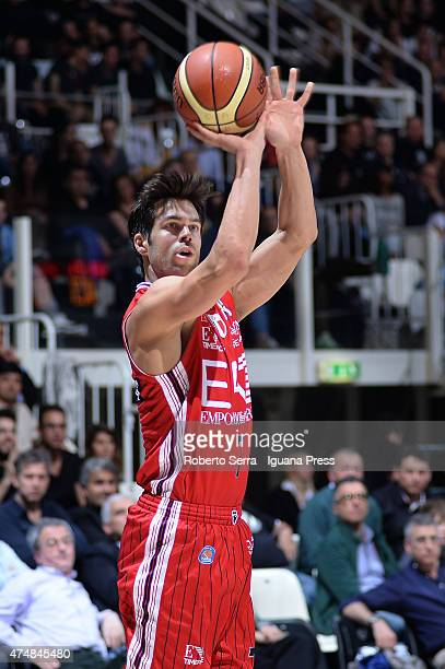 Bruno Cerella of EA7 in action during the LegaBasket Serie A1 match between Virtus Granarolo Bologna and Olimpia EA7 Armani Milano at Unipol Arena on...