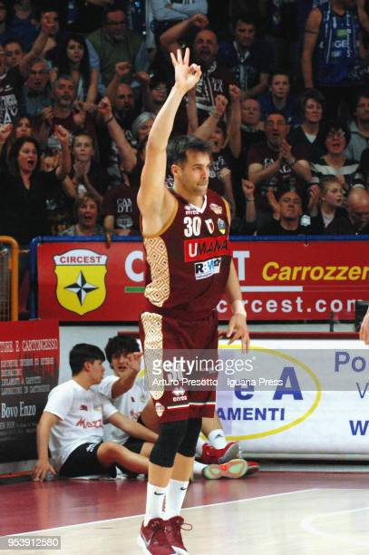 Bruno Cerella of Umana celebrates during the LBA Legabasket of Serie A match between Reyer Umana Venezia and Leonessa Germani Brescia at Palasport...