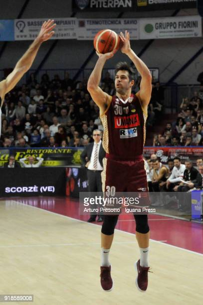 Bruno Cerella of Umana in action during the LBA Legabasket of Serie A match between Reyer Umana Venezia and Happy Casa Brindisi at Palasport...