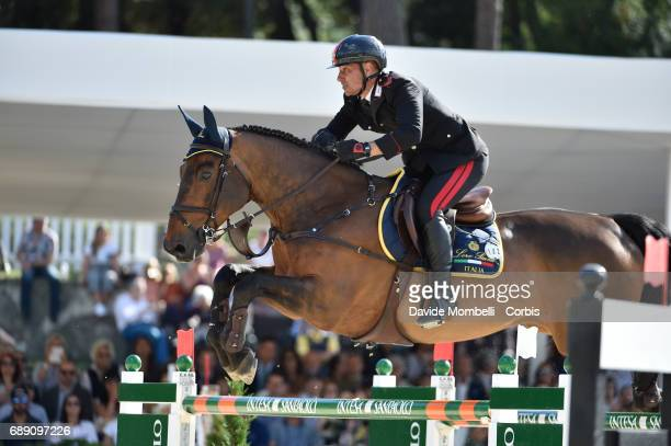 Bruno Chimrri of Italy riding Tower Mouche during the FEI Nations Cup Piazza di Siena on May 26 2017 in Villa Borghese Rome Italy
