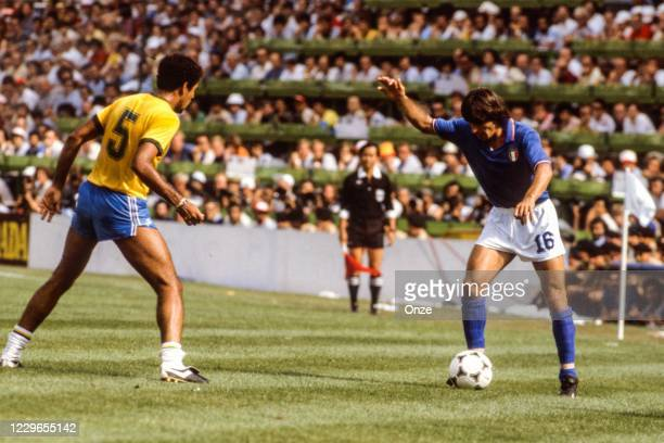 Bruno Conti of Italy during the second stage of the 1982 FIFA World Cup match between Italy and Brazil, at Sarria Stadium, Barcelona, Spain on 5 July...