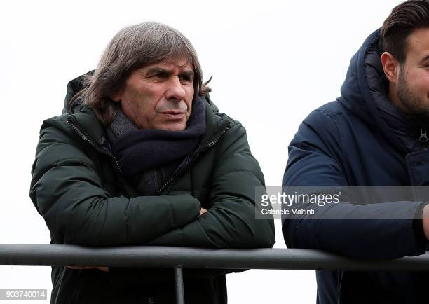 Bruno Conti world champion Spain 1982 and former player of AS Roma during 'Torneo dei Gironi' Italian Football Federation U16 Tournament at...