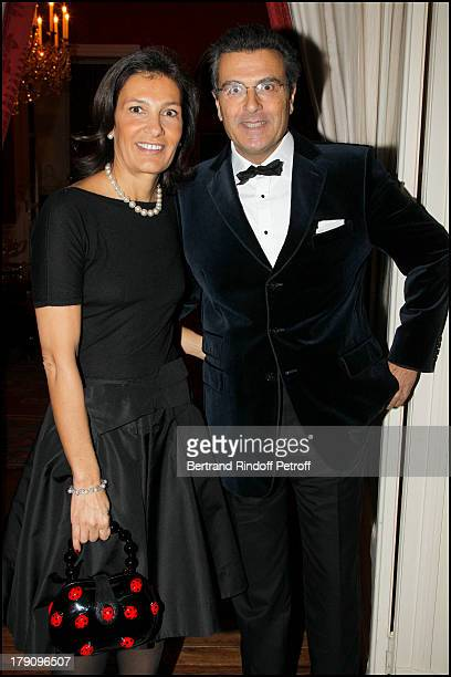 Bruno Cromback and wife Agnes at The Traditional Christmas Dinner Held At The British Embassy In Paris
