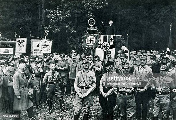 Bruno Doehring Hofprediger or Court Preacher to the Nazis during an address to the Nazi faithful at Bad Harzburg in the Black Forest He was...