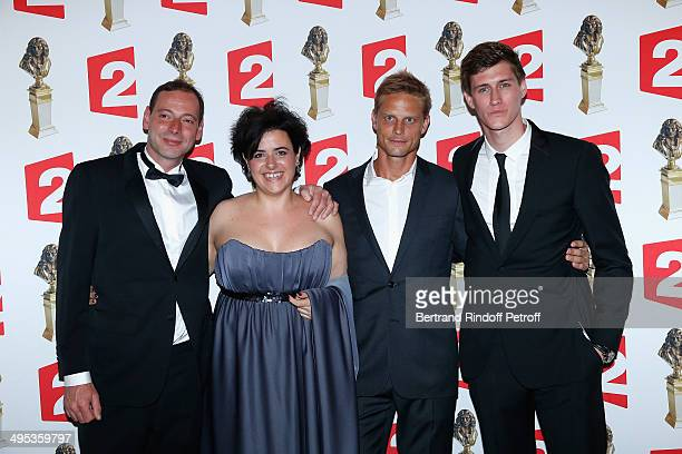 Bruno Dupuis a guest Arnaud Lemaire and JeanBaptiste Maunier attend the 26th Molieres Awards Ceremony at Folies Bergere on June 2 2014 in Paris France