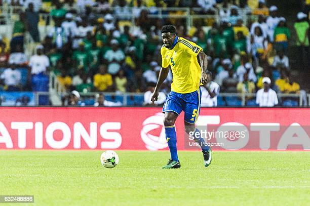 Bruno Ecuele Manga of Gabon during the African Nations Cup match between Cameroon and Gabon at Stade de L'Amitie on January 22, 2017 in Libreville,...