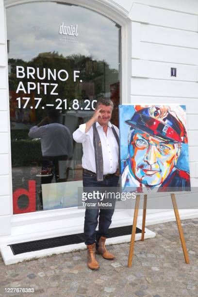 Bruno F Apitz during the Bruno F Apitz exhibition opening on July 17 2020 in Hamburg Germany