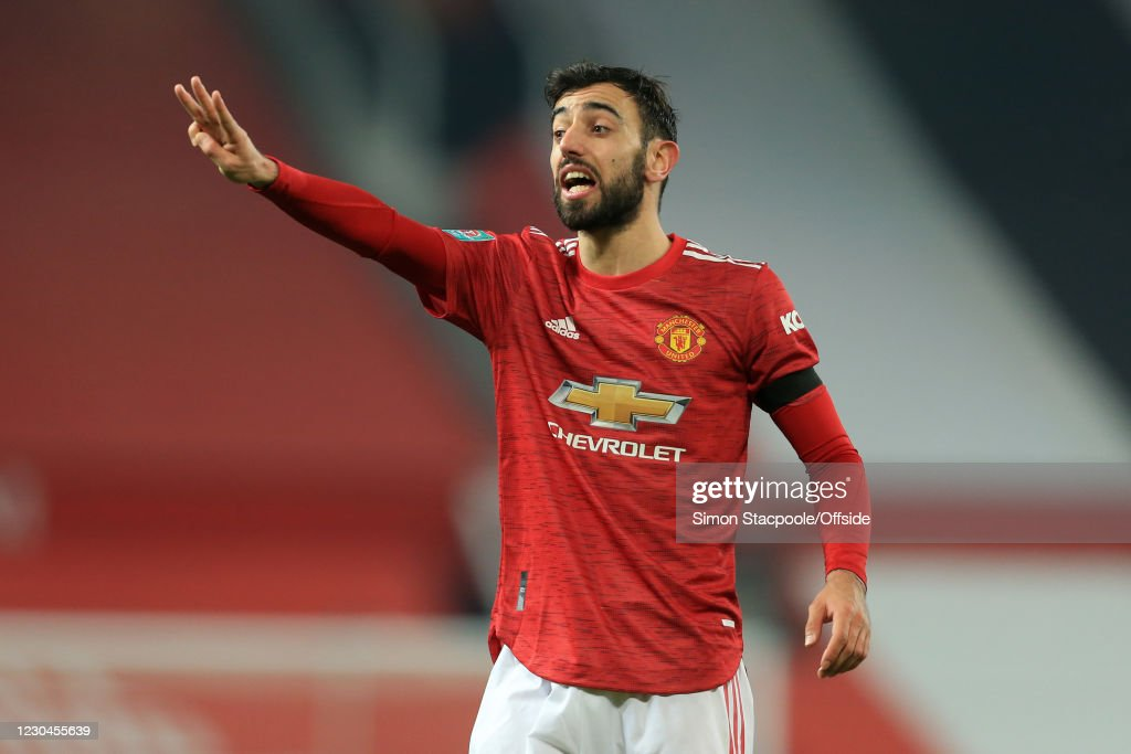 Bruno Fernandes of Man Utd during the Carabao Cup Semi Final match... News  Photo - Getty Images