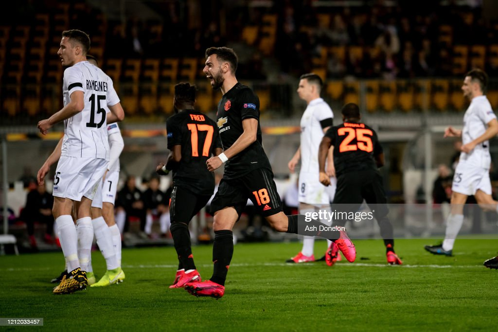 LASK v Manchester United - UEFA Europa League Round of 16: First Leg : News Photo