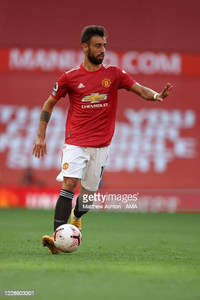 Bruno Fernandes of Manchester United during the Premier League match between Manchester United and Crystal Palace at Old Trafford on September 19...
