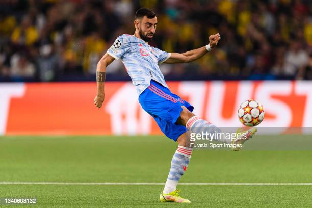 Bruno Fernandes of Manchester United during the UEFA Champions League group F match between BSC Young Boys and Manchester United at Stadion Wankdorf...