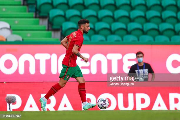 Bruno Fernandes of Portugal and Manchester United during the international friendly match between Portugal and Israel at Estadio Jose Alvalade on...