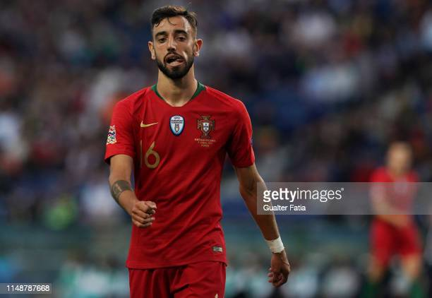 Bruno Fernandes of Portugal and Sporting CP during the UEFA Nations League Final match between Portugal and Netherlands at Estadio do Dragao on June...