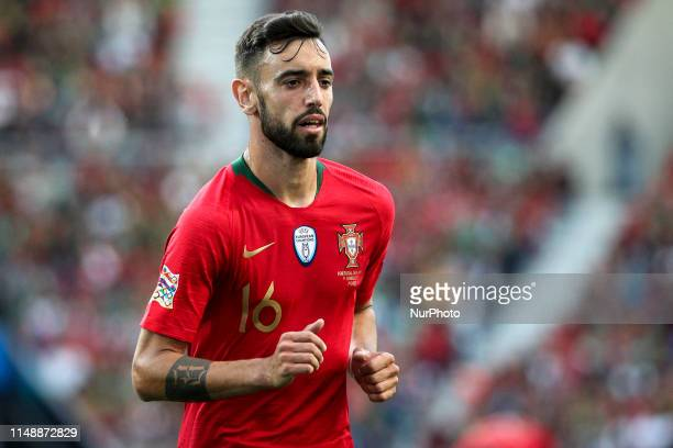 Bruno Fernandes of Portugal and Sporting CP during the UEFA Nations League Final football match Portugal vs Netherlands at Dragao stadium in Porto on...